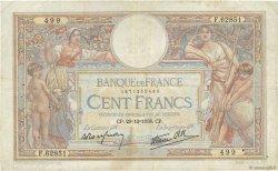 100 Francs LUC OLIVIER MERSON type modifié FRANCE  1938 F.25.37 TB