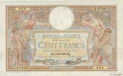 100 Francs LUC OLIVIER MERSON type modifié FRANCE  1939 F.25.49 pr.TTB