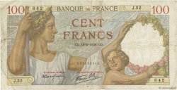 100 Francs SULLY FRANCE  1939 F.26.01 TB