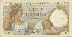 100 Francs SULLY FRANCE  1939 F.26.02 TB