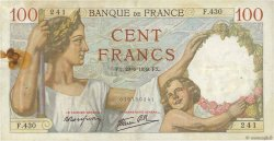 100 Francs SULLY FRANCE  1939 F.26.04 TB