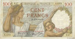 100 Francs SULLY FRANCE  1939 F.26.07 TB