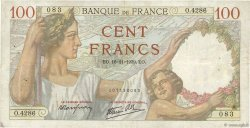 100 Francs SULLY FRANCE  1939 F.26.15 TB