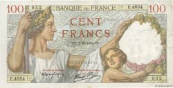 100 Francs SULLY FRANCE  1939 F.26.17 TTB