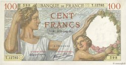 100 Francs SULLY FRANCE  1940 F.26.33 SUP