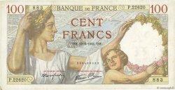 100 Francs SULLY FRANCE  1941 F.26.54 TTB