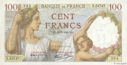 100 Francs SULLY FRANCE  1941 F.26.56 TTB+