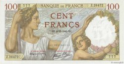 100 Francs SULLY FRANCE  1941 F.26.62 SPL