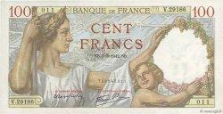 100 Francs SULLY FRANCE  1942 F.26.67 SPL