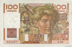 100 Francs JEUNE PAYSAN FRANCE  1946 F.28.02 TTB