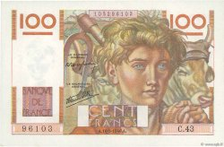 100 Francs JEUNE PAYSAN FRANCE  1946 F.28.04 pr.SPL
