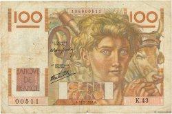 100 Francs JEUNE PAYSAN FRANCE  1946 F.28.04 B