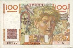 100 Francs JEUNE PAYSAN FRANCE  1946 F.28.08 TTB