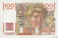 100 Francs JEUNE PAYSAN FRANCE  1947 F.28.16 pr.SPL