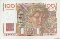 100 Francs JEUNE PAYSAN FRANCE  1949 F.28.22 pr.SPL