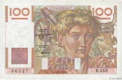 100 Francs JEUNE PAYSAN FRANCE  1949 F.28.24 SPL