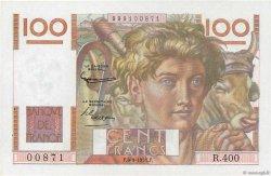 100 Francs JEUNE PAYSAN FRANCE  1951 F.28.29 SPL