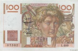 100 Francs JEUNE PAYSAN FRANCE  1952 F.28.34 SUP+