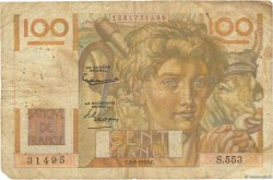 100 Francs JEUNE PAYSAN FRANCE  1953 F.28.38 AB