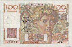 100 Francs JEUNE PAYSAN filigrane inversé FRANCE  1952 F.28bis.01 TTB
