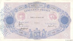 500 Francs BLEU ET ROSE FRANCE  1915 F.30.22 TTB