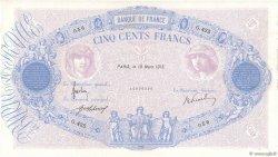 500 Francs BLEU ET ROSE FRANCE  1915 F.30.22 TTB
