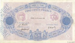 500 Francs BLEU ET ROSE FRANCE  1921 F.30.25 pr.TTB