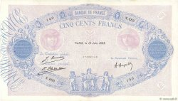 500 Francs BLEU ET ROSE FRANCE  1923 F.30.27 TTB
