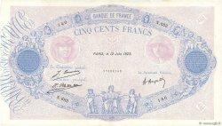500 Francs BLEU ET ROSE FRANCE  1923 F.30.27 TTB