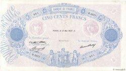 500 Francs BLEU ET ROSE FRANCE  1937 F.30.38 TB+