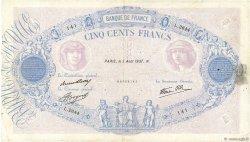 500 Francs BLEU ET ROSE modifié FRANCE  1937 F.31.01 TB