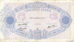 500 Francs BLEU ET ROSE modifié FRANCE  1937 F.31.03 TB