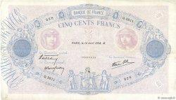 500 Francs BLEU ET ROSE modifié FRANCE  1938 F.31.08 pr.TTB