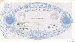500 Francs BLEU ET ROSE modifié FRANCE  1938 F.31.10 TTB