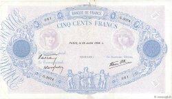 500 Francs BLEU ET ROSE modifié FRANCE  1938 F.31.19 TB