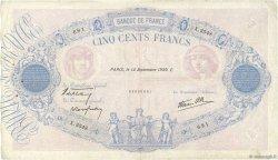 500 Francs BLEU ET ROSE modifié FRANCE  1939 F.31.39 TB+