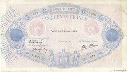 500 Francs BLEU ET ROSE modifié FRANCE  1939 F.31.45 TB
