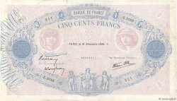 500 Francs BLEU ET ROSE modifié FRANCE  1939 F.31.48 pr.TTB