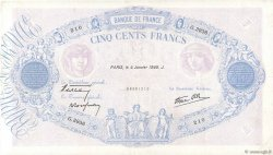 500 Francs BLEU ET ROSE modifié FRANCE  1940 F.31.55 TTB