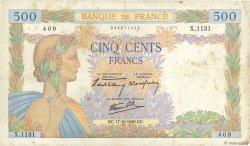 500 Francs LA PAIX FRANCE  1940 F.32.07 TB