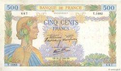 500 Francs LA PAIX FRANCE  1940 F.32.11 TB+