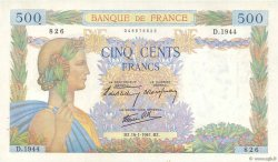 500 Francs LA PAIX FRANCE  1941 F.32.13 SUP