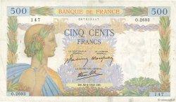 500 Francs LA PAIX FRANCE  1941 F.32.15 TB