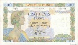 500 Francs LA PAIX FRANCE  1941 F.32.16 TTB