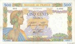 500 Francs LA PAIX FRANCE  1942 F.32.27 SUP