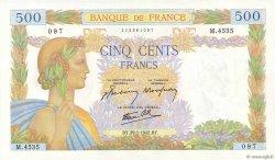 500 Francs LA PAIX FRANCE  1942 F.32.28 SUP+