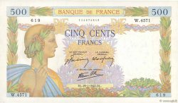 500 Francs LA PAIX FRANCE  1942 F.32.28 SPL+