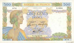 500 Francs LA PAIX FRANCE  1942 F.32.31 SPL