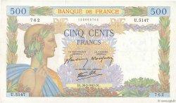 500 Francs LA PAIX FRANCE  1942 F.32.32 TTB