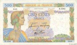 500 Francs LA PAIX FRANCE  1942 F.32.34 pr.TTB